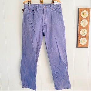 Vtg 80s Levis 560 Orange Tab USA Made Purple Jeans